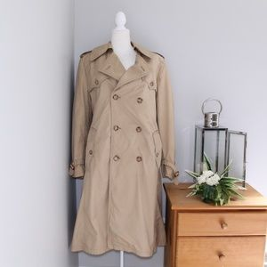 Heavy Tan Khaki Trench Coat Sz 38